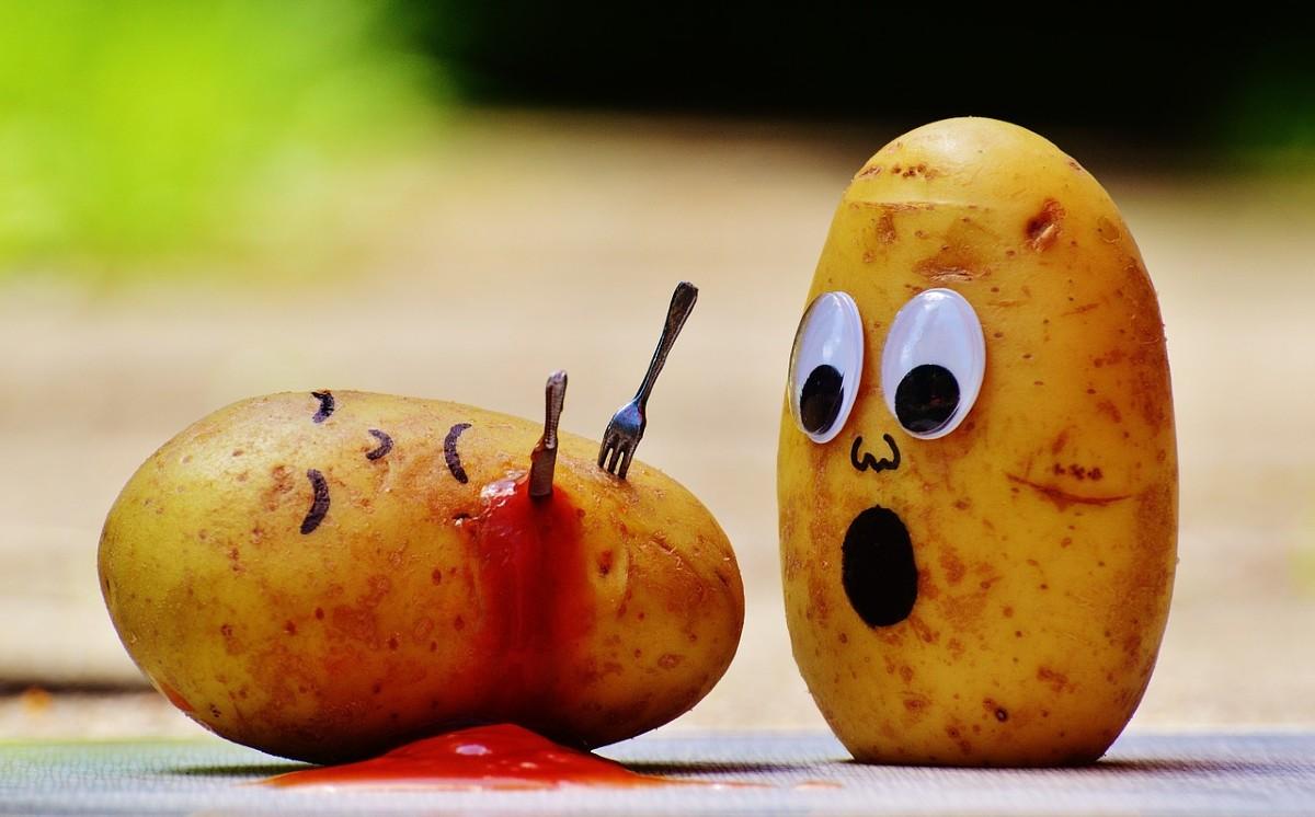 Patata con sangre